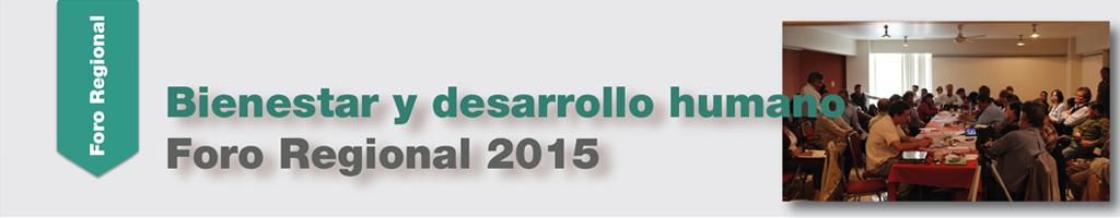 Foro Regional 2015 Sesion 1